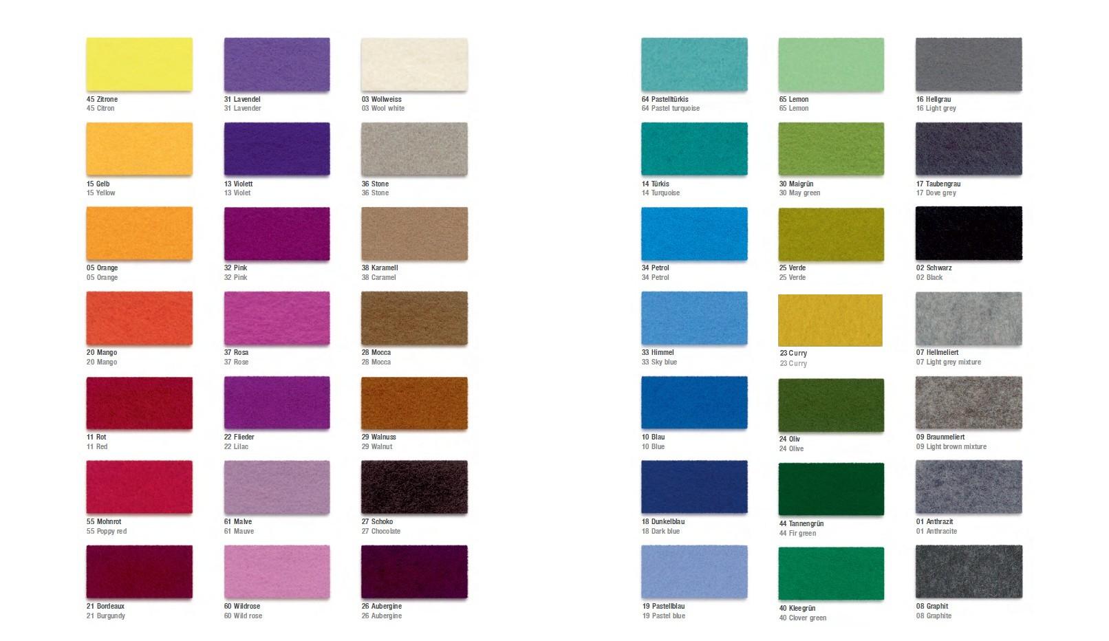 Wandfarben farbkarte muster
